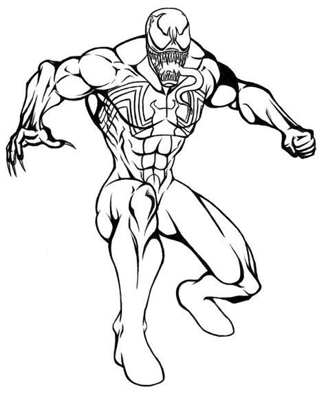 venom coloring page coloring home