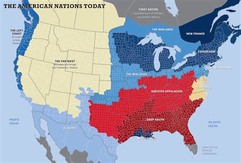 The Us Has 11 Separate 'nations' With Entirely Different