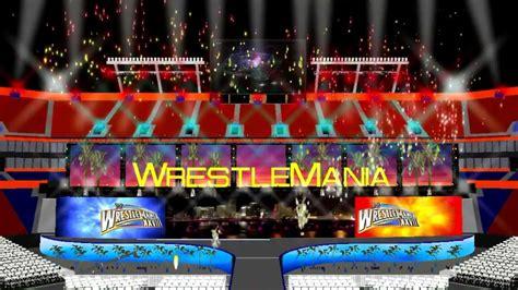 wrestlemania 28 the rock victory pyro animation
