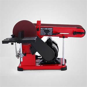 375W Bench Belt and Disc Sander Grinder Metalworking