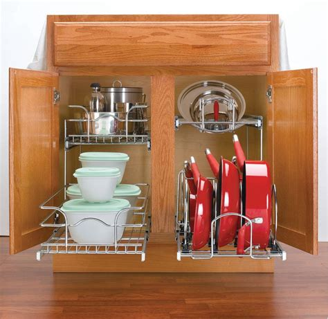 pots and pans rack cabinet rev a shelf save an additional 5