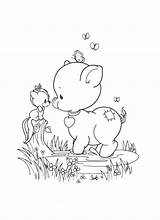 Coloring Precious Moments Printable Pig Adult September Stamps Sheets Clip Kolorowanki Animal Friends Boy Line Printables Fall Halloween Adults 為孩子�的�色頁 sketch template