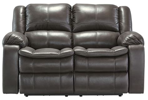 Power Reclining Loveseat by Gray Power Reclining Loveseat From