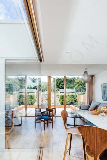 extension  internal courtyard   terraced house interior architectural advertising