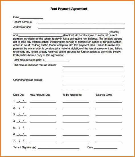 Simple Payment Agreement Template by 12 Installment Payment Agreement Template Simple Salary