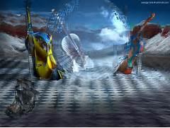Modern Fantasy Art 3D Pictures  free 3d wallpaper software downloads      Modern Surrealism Wallpaper