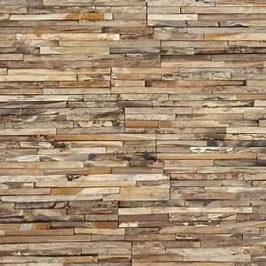 Parement Bois Mural : parement bois de teck 20x50 cm par bois001 ~ Premium-room.com Idées de Décoration