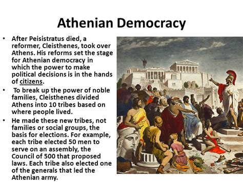 The Rise Of Democracy Athens  Ppt Download