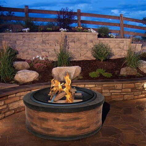 wood burning pit pit wood burning fireplace outdoor patio garden