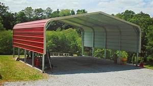 18x21 Regular Roof Metal Carport