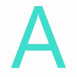 free turquoise letter a icon download turquoise letter a With turquoise letters
