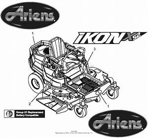 Ariens 915177  000101 -   Ikon-x 52 Parts Diagram For Decals