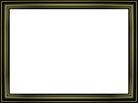 3d Border Picture by Shiny Black Embossed Frame Rectangular Powerpoint