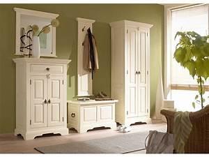Garderobe Holz Weiß : garderobe wandpaneel catana wei flur massivum ~ Frokenaadalensverden.com Haus und Dekorationen
