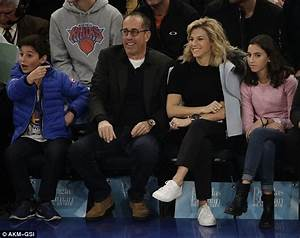 Jerry Seinfeld enjoys a Knicks game with his wife Jessica ...