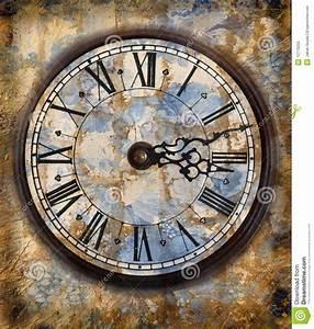 Vintage Clocks Stock Illustration  Image Of Grunge
