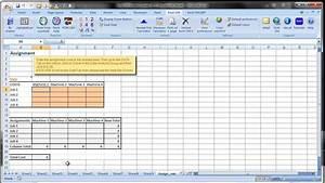 Excel Om  Qm Tutorials  Using Excel U0026 39 S Solver