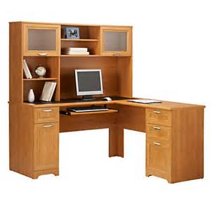 realspace magellan l shaped desk 30 h x 58 34 w x 18 34 d honey maple by office depot officemax
