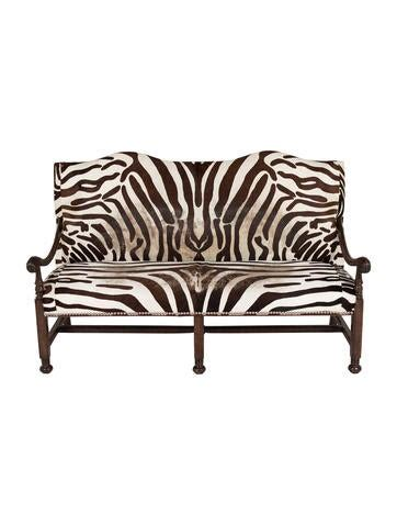 zebra settee zebra hide settee furniture furni20354 the realreal