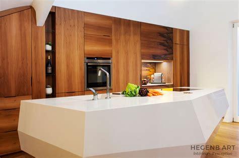 cuisine ilot central design cuisine le baou un îlot central exceptionnel en forme de rocher hegenbart
