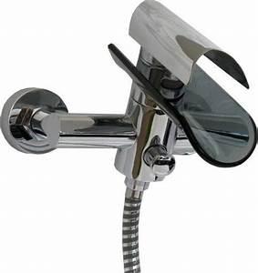 Robinet Cascade Baignoire : robinet mitigeur cascade de baignoire de verre noir mitigeur baignoire design ~ Nature-et-papiers.com Idées de Décoration