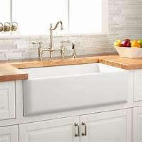 """white kitchen sinks 33"""" Grigham Reversible Farmhouse Sink - White - Kitchen"""