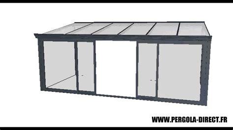 veranda kit aluminium www pergola direct fr youtube