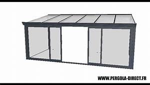 Pergola Aluminium En Kit : veranda kit aluminium www pergola direct fr youtube ~ Edinachiropracticcenter.com Idées de Décoration
