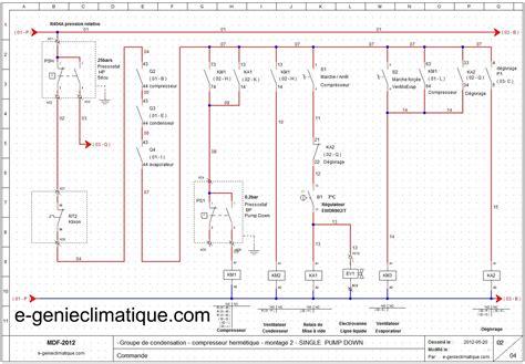 schema electrique chambre froide le génie climatique les équipements thermiques le froid