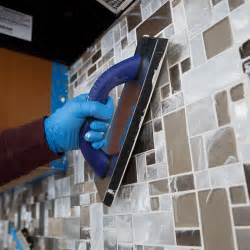 How To Install Glass Mosaic Tile Backsplash In Kitchen How To Install A Tile Backsplash