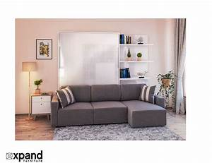 clean murphysofa sectional wall bed expand furniture With wall bed and sofa