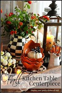 fall, kitchen, table, centerpiece