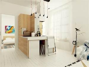 Aménagement Petit Appartement : astuce d 39 am nagement dans un petit appartement ~ Nature-et-papiers.com Idées de Décoration