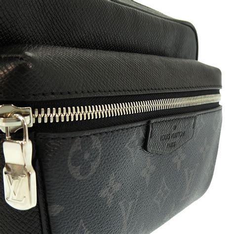 louis vuitton  taiga monogram eclipse noir bum bag outdoor waist bag ebay