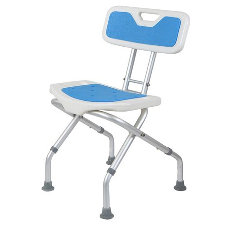 useful folding small handicap bathroom chair with back