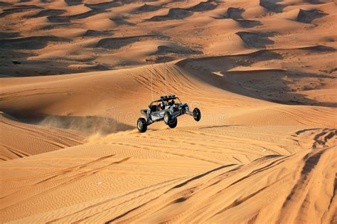 Dune Bashing With A Dune Buggy Stock Photo