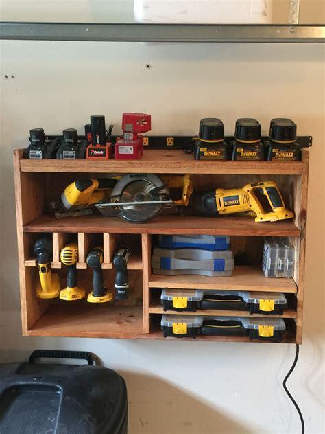 cordless tool station garage tool storage garage tools