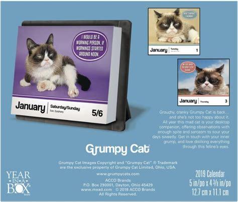 grumpy cat calendar loganberry handmade
