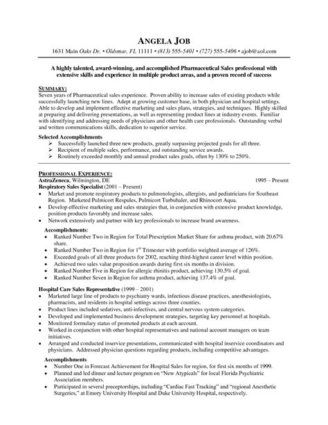 20170 pharmaceutical sales resume pharmaceutical sales resume exles http www