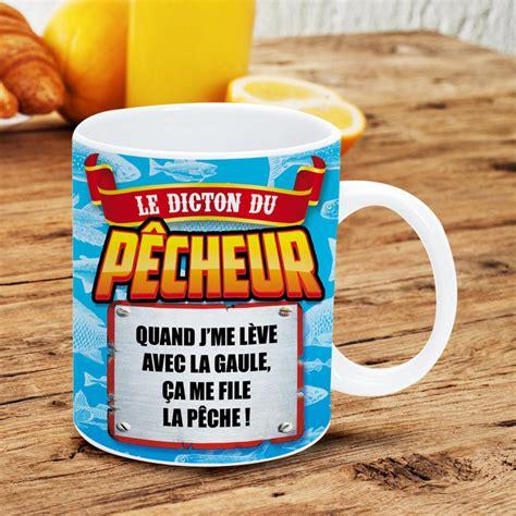 protection bureau verre mug rigolo avec message humoristique pour pêcheur sur