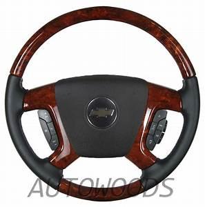 Wood Leather Oem Steering Wheel For 2007 2008 2009