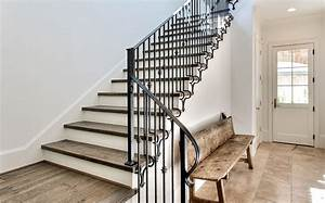 Interior Wrought Iron Stair Railing — John Robinson House