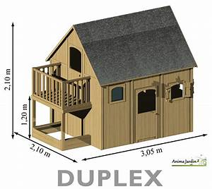 Maison Enfant Bois : maisonnette enfant en bois duplex mezzanine achat pas cher egt ~ Teatrodelosmanantiales.com Idées de Décoration
