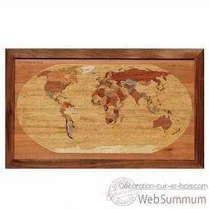 Carte Du Monde En Bois : carte monde dans cartes du monde sur d coration cuir et bois ~ Teatrodelosmanantiales.com Idées de Décoration