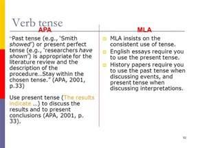 apa literature review past or present tense