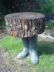 Tabouret Rondin De Bois : tabouret fait de bottes et d 39 un rondin de bois fix avec ~ Teatrodelosmanantiales.com Idées de Décoration