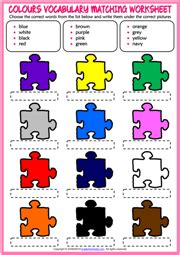 colours esl vocabulary worksheets