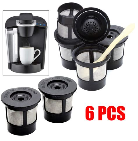 Shop now & get discounts along with free shipping worldwide. 6PCS Reusable Refillable K-Cup Coffee Filter Pod for ...