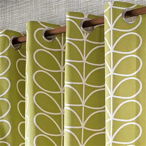 orla kiely linear stem olive in ready made curtains