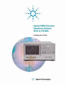 Agilent 4294a Precision Impedance Analyzer  40 Hz To
